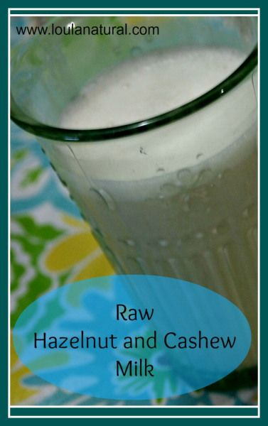 Hazelnut and Cashew Milk is a delicious combination. Really creamy and naturally sweet- it is a great alternative to dairy milk.