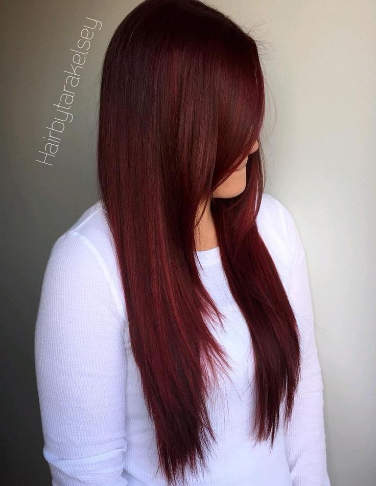 Deep Burgundy Hair Color
