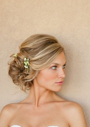 I love the softness of this much more than the fancy formal hairstyle I had at my wedding