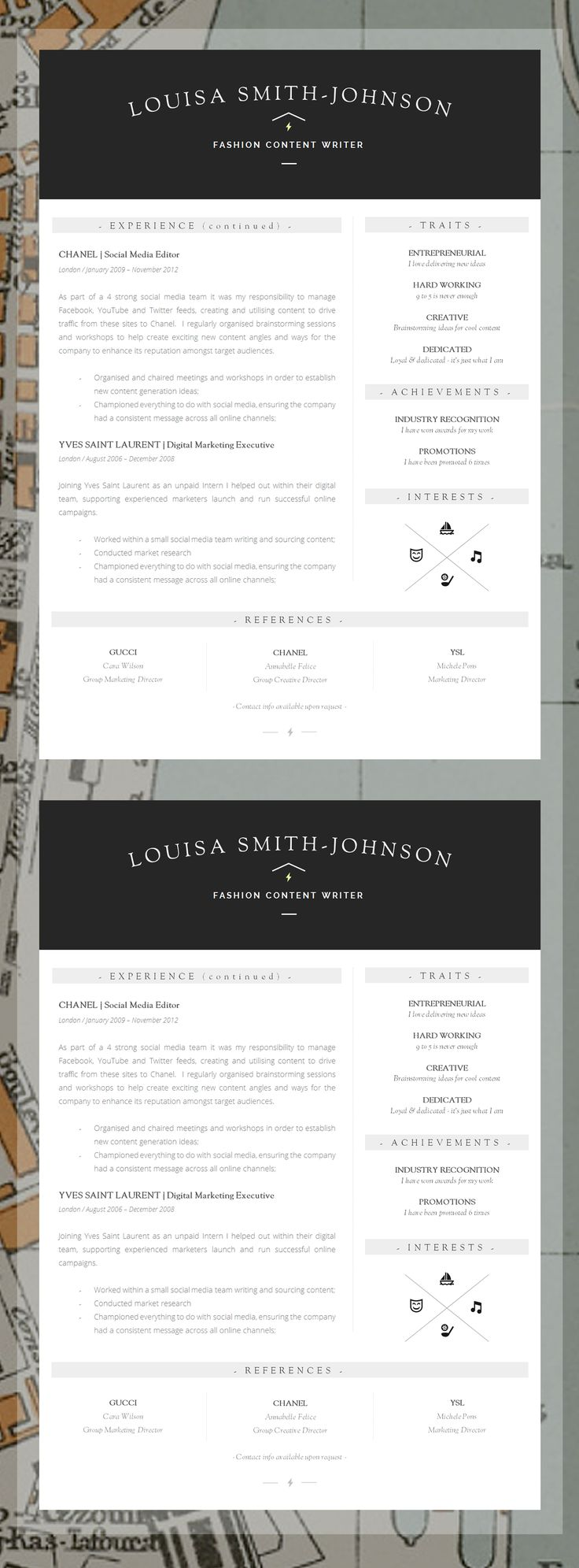 You only have one chance to make a first impression - Editable Resume Templates For Word | CV Templates | Professional Job Applications I #InformationDesign #CV #Job #Resume
