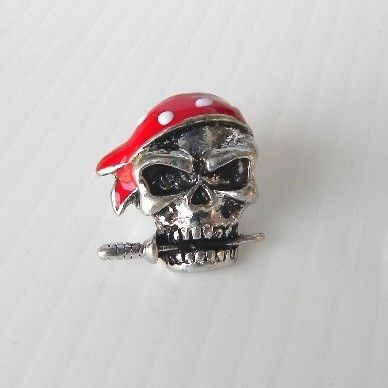 Pirate Skull bead - in metallo - Hardware - Equipment