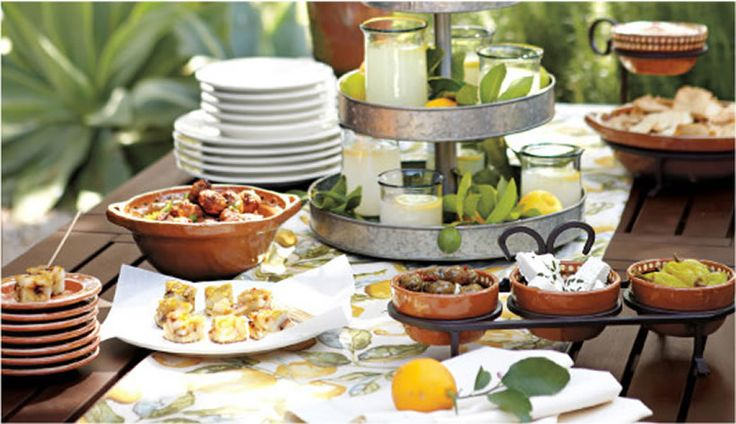 Pottery Barn's guide to a MEDITERRANEAN TAPAS party with downloadable invitation