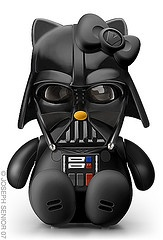 Darth Kitty illustrations by the clearly talented Joseph Senior.: Pop Culture, Darth Vader, Stars War, Starwars Hello Kitty, Hello Kitty Starwars Darthvad, Hair Bows, Hello Darthkitti, Darth Kitty, Geeky Stuff