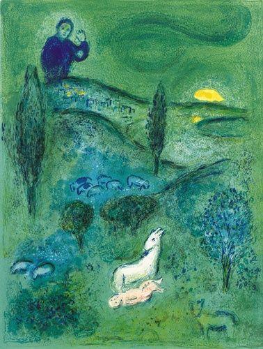 Marc Chagall ~ Lamon Discovers Daphnis