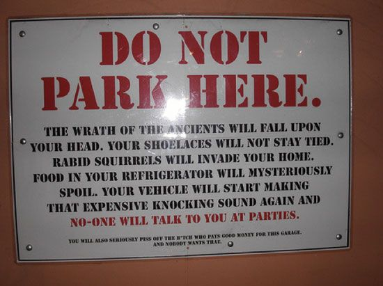 17 best images about funny parking signs on pinterest
