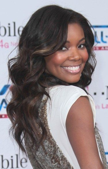 Gabrielle Union wows with wavy hairstyle: Hair Beautiful, Hair Colors, Spring Hair, Brown Highlights, Gabriel Union Hairstyles, Hairstyles Wedding, Hair Style, Natural Hair, Wavy Hairstyles