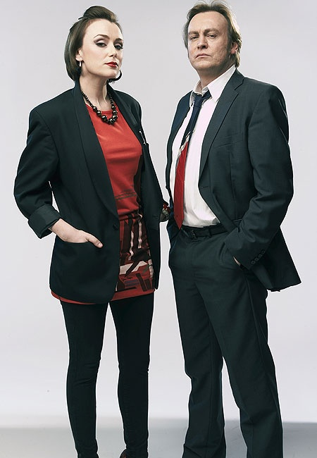 Keeley Hawes and Philip Glenister (Ashes to Ashes)