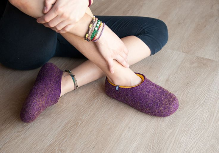 Women's slippers - felted wool slippers by Wooppers