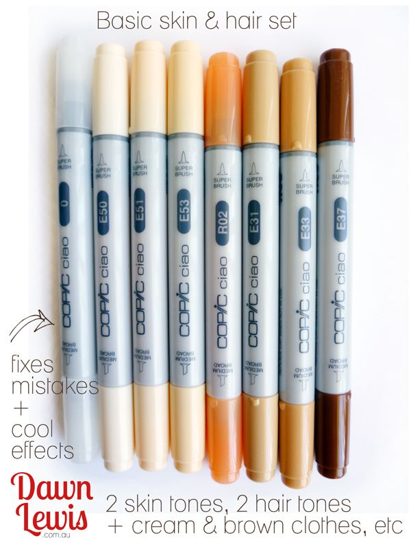 Copic ciao skin & hair set reduced