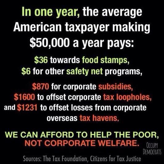 no corporate welfare