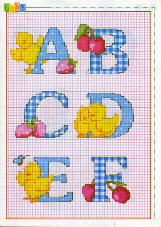 1000+ images about Cross stitch: Alphabet on Pinterest ...