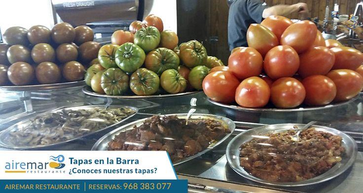 hoy lunes  si no te apetece cocinar y esta de camino entre Murcia y San Javier, aprovecha para degustar nuestro menú diario o para probar nuestras tapas ¿Apetece alguna?  más información y reservas en el 968383077