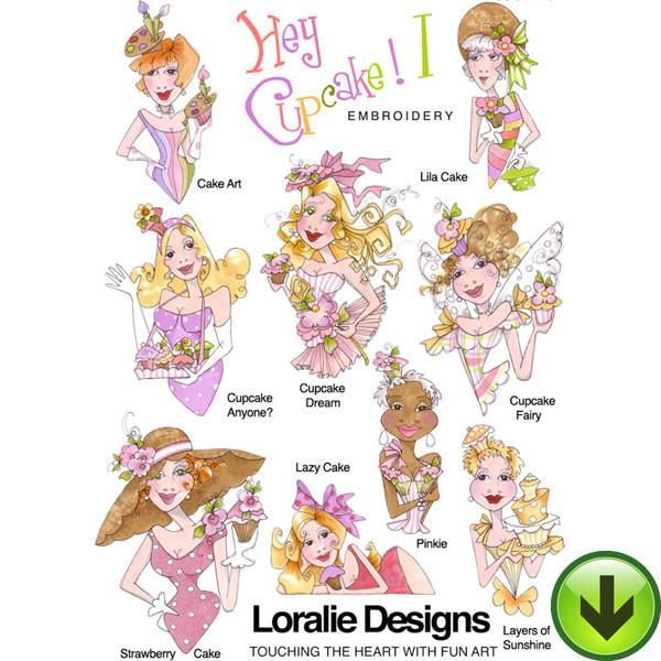 Hey Cupcake 1 Embroidery Design Collection | DOWNLOAD