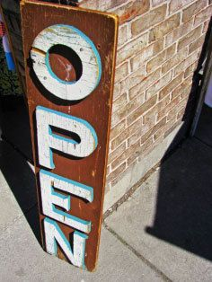 Open Sign via Etsy