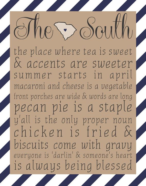 The South  South Carolina 8x10 print  by sweetteaandsparkles, $15.00