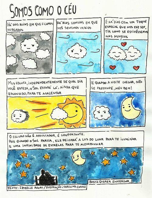Somos como o céu