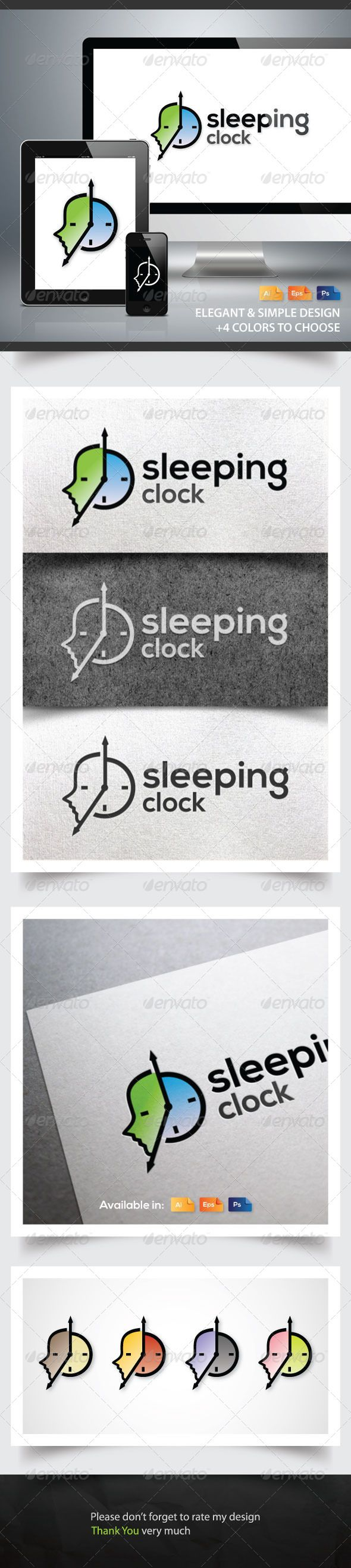 Sleeping Clock — Photoshop PSD #rest #simple • Available here → https://graphicriver.net/item/sleeping-clock/6088204?ref=pxcr