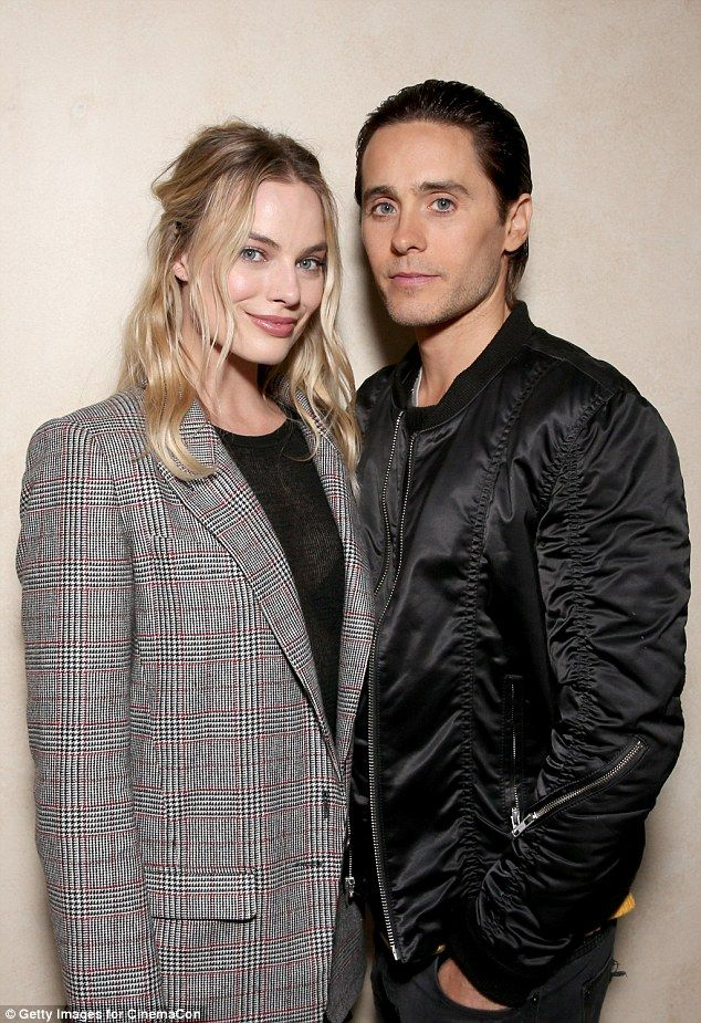 Partners in crime: Two cast members who looked particularly cosy were Leto and Robbie, who play The Joker and his canonical on-off girlfriend Harley Quinn