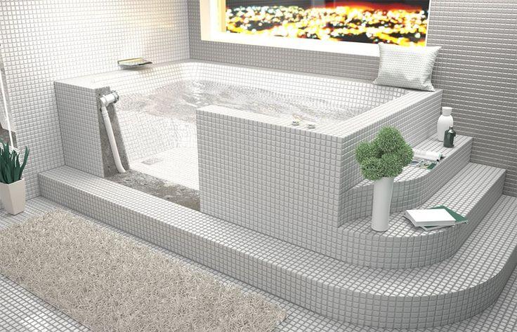 Risultati immagini per idee bagno moderno mosaico