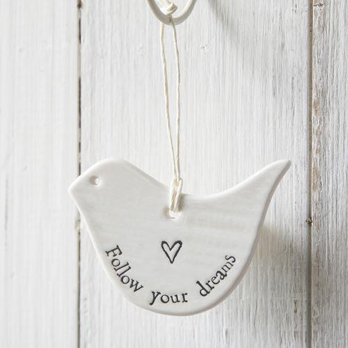 Porcelain Bird-Follow Your Dreams