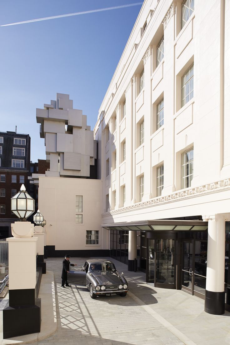 The Beaumont Hotel in Mayfair, London. See the sculpted structure in October Fanfair.
