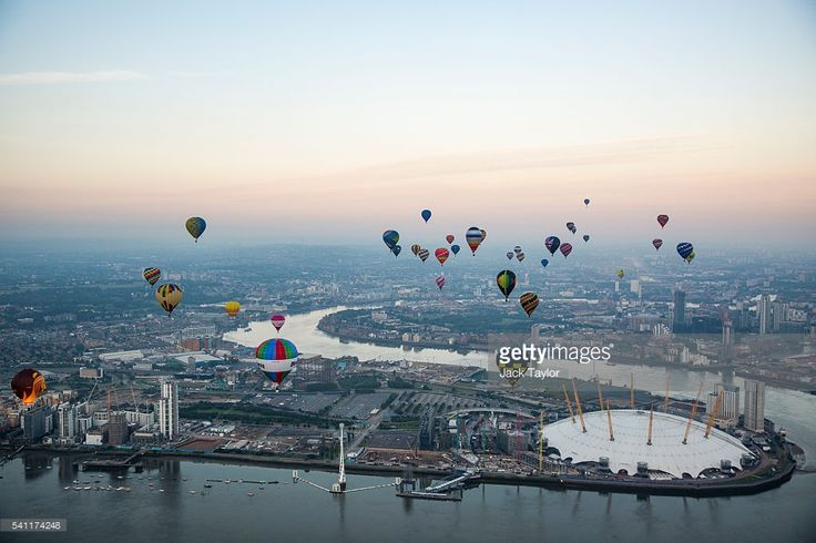 Hot air balloons over the London Skyline on June 19, 2016 in London, England. 46 balloons take to the air today as part of the annual Lord Mayor's Hot Air Balloon Regatta, a charity event in aid of the Lord Mayor's Fund.