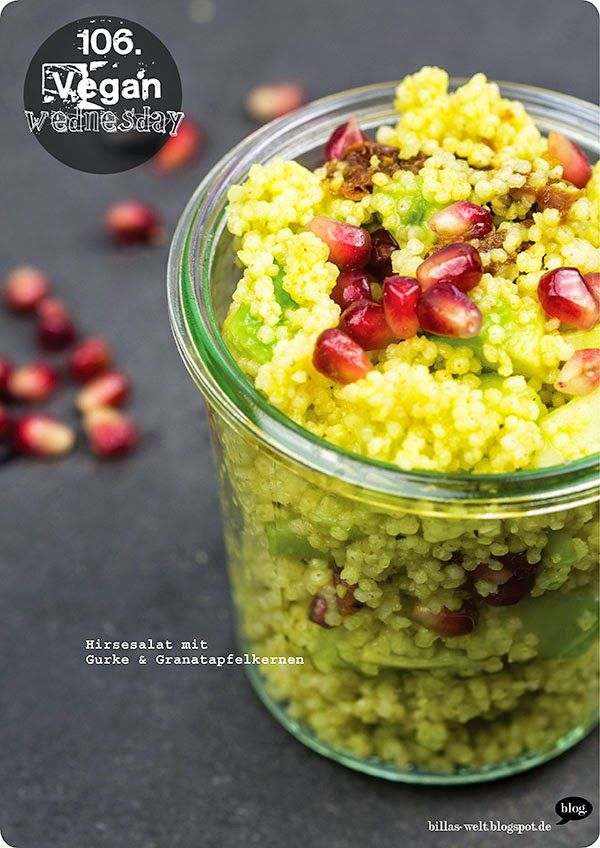 Das ist mal einen tolle Verwendung für Hirse: Als Salat mit Gurke und Granatapfel