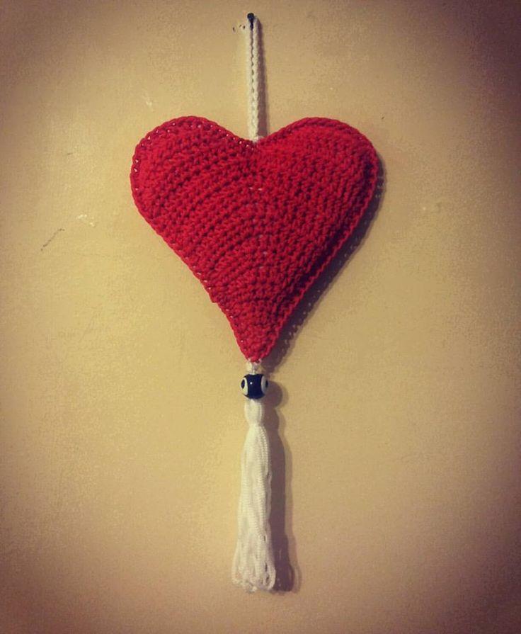 El İşi Örme Kalp