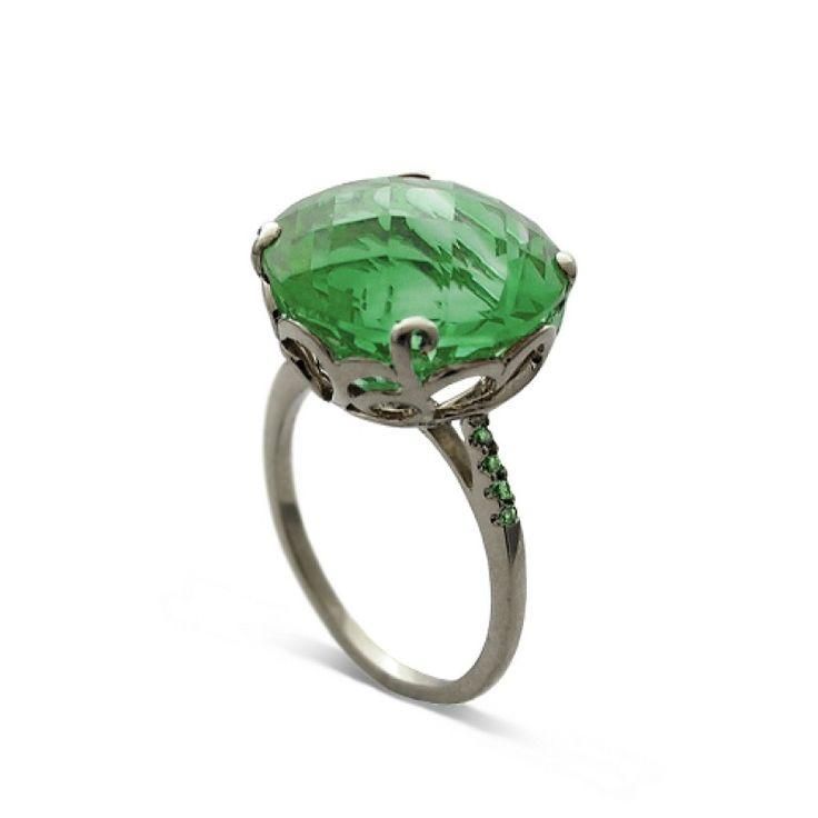 Whispering Cocktail Ring - Green Amethyst - Fei Liu #jewellery #feiliu #necklace #luxury #earrings  #ring