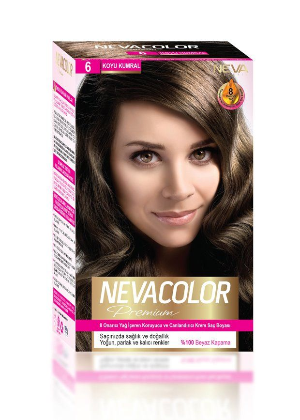 Nevacolor Premium Sac Boyasi 6 Koyu Kumral Sac Sac Boyasi Yag
