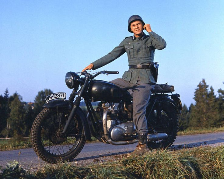 Steve on Triumph from the Great Escape