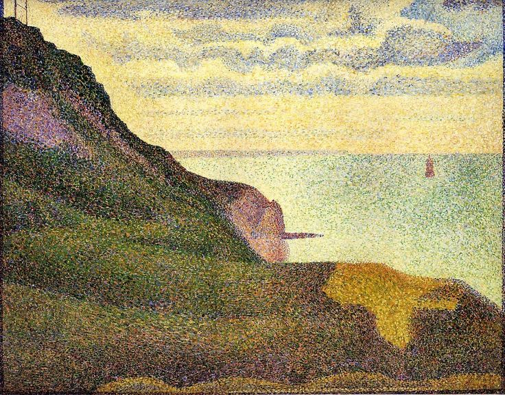 Port-en-Bessin, the Semaphore and Cliffs by Georges Seurat