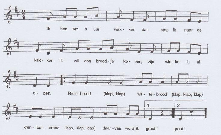 De-bakker, liedje voor kleuters