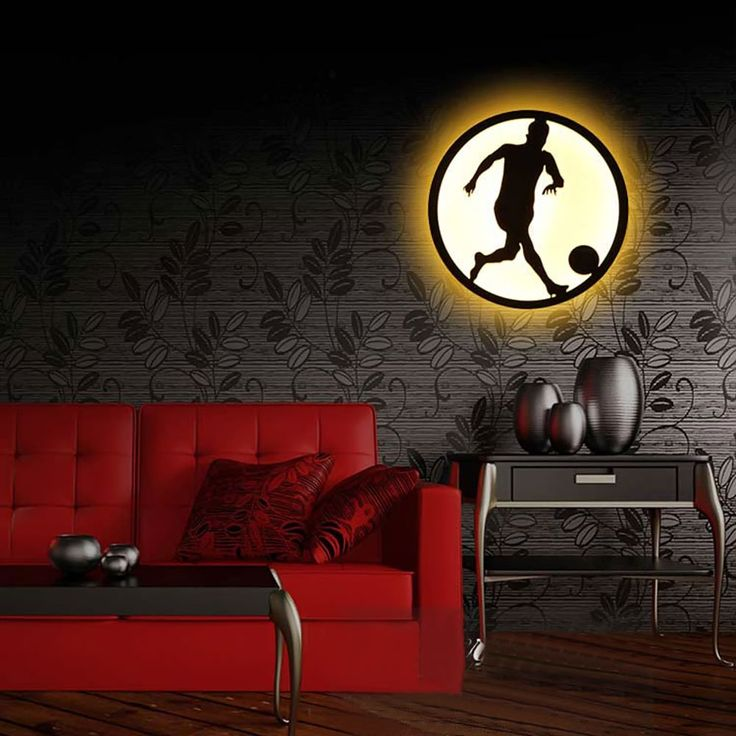 Modern Sconce Lighting Football Wall Mounted Bedside Reading Light Creative Wall Lamp Living Room Home Lighting Sconces #Affiliate