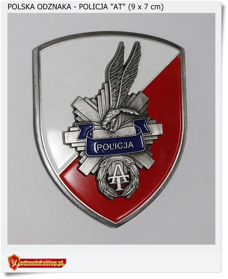 """Polska nowa odznaka """"Policja AT"""" Antyterrorystyczna"""