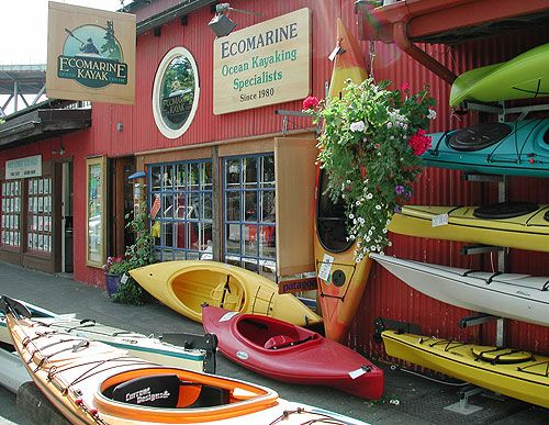 Granville Island | Ecomarine Paddlesport Centres | Kayaking | Stand Up Paddleboarding | Vancouver BC |