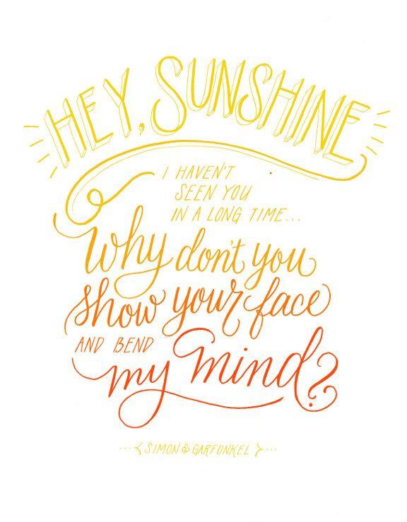 Lettering Lately: Hey, Sunshine