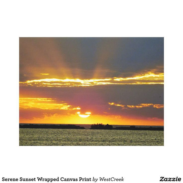 Serene Sunset Wrapped Canvas Print