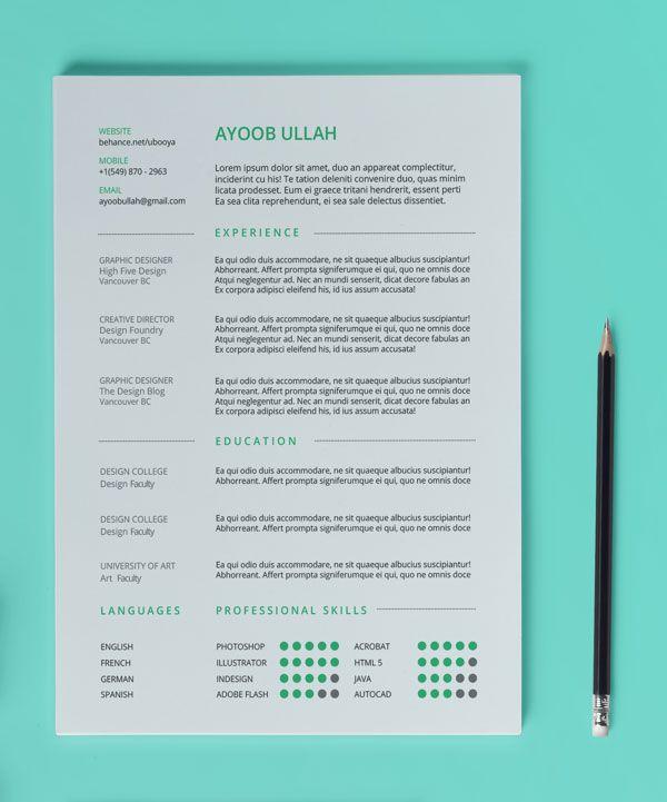 11 gambar terbaik tentang RESUME di Pinterest Identitas pribadi - interactive resume template