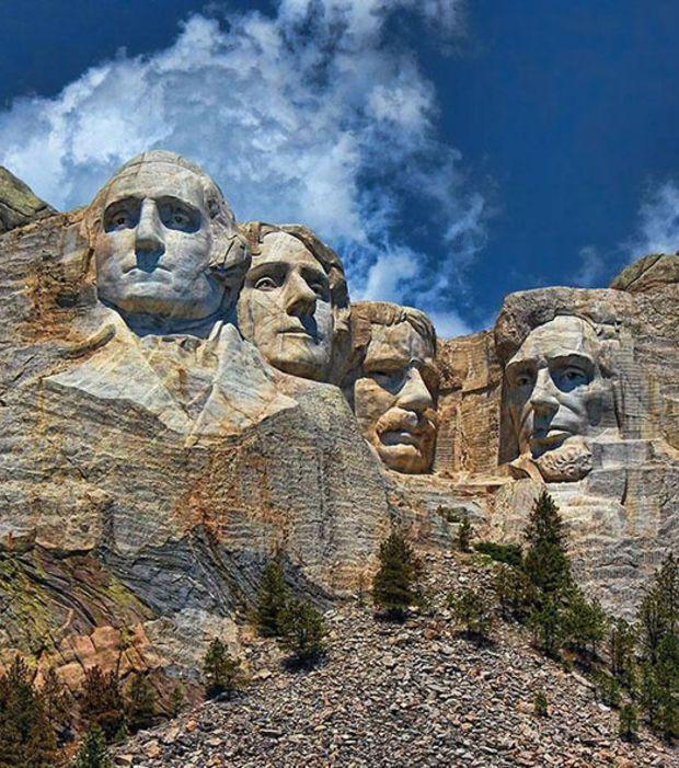 Le Mont Rushmore aux Etats-Unis
