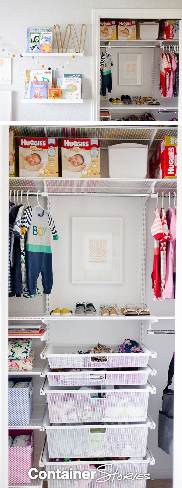 Elegant Baby Closet. See More. Create A Little Space For All Of Your Little Oneu0027s  Little Things With Elfa!