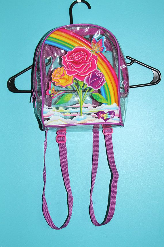 Vintage Lisa Frank Clear Backpack by JUNKKYARD on Etsy, $100.00