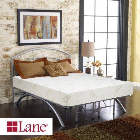 Contura by Lane 10 inch Medium Firm Plush Top Memory Foam Mattress Bed, Multiple Sizes, White