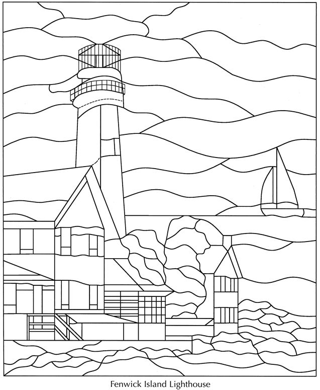 lighthouses coloring pages - photo#36