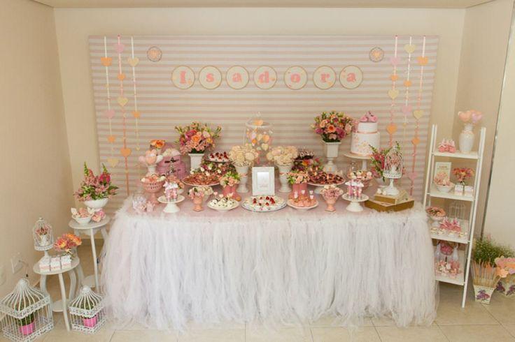 Ideia para decoração de chá de bebê menina
