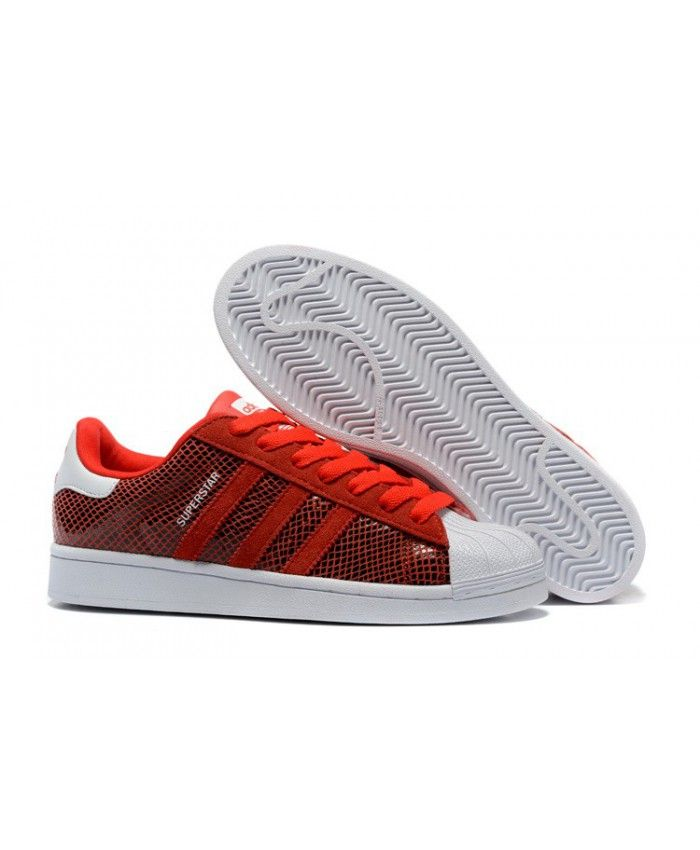 adidas superstar femme blanche et rouge