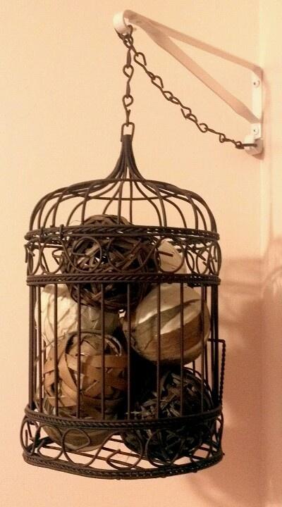 Old bird cage decoration