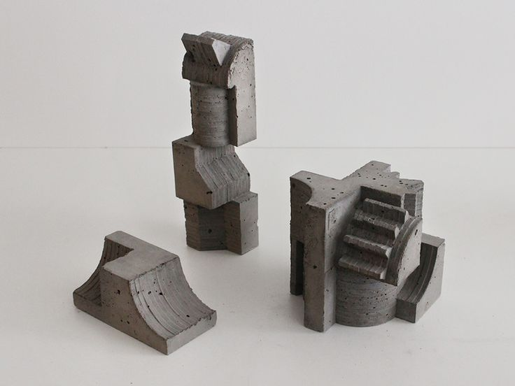 Architectural Concrete Sculptures By David Umemoto http://designwrld.com/architectural-concrete-sculptures-by-david-umemoto/