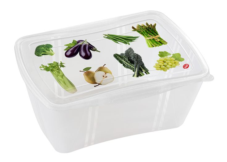 Fresh Container rett. 2,0 L.  Contenitore per frutta e verdura, per mantenerne a lungo la freschezza e il sapore. #verdura #frutta #box