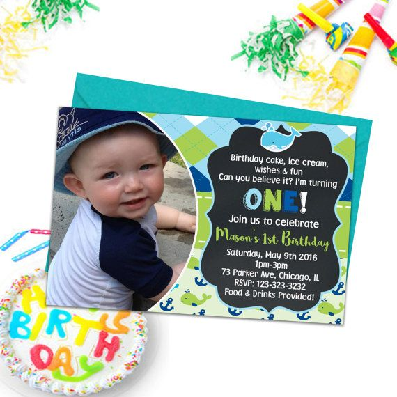 Babies 1st Birthday Whale Party Invitations by PrintYourInvite #babies1stbirthday #babies1st #firstbirthday #invitations #partyinvitations #kidspartyprintables #kidspartyinvites #babiesinvitations #babiesbirthday #kidspartyinvitations #party #birthday #invites